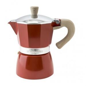 Tognana - Vintage kotyogó kávéfőző 3 személyes bordó