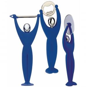 Casa Bugatti - Gym 3 részes készlet (hámozó, pizzavágó, sörbontó) kék
