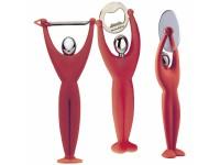Bugatti - Gym 3 részes készlet (hámozó, pizzavágó, sörbontó) piros