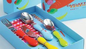 Casa Bugatti - Baby Bloom baba evőeszközkészlet 4db-os