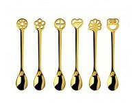 Bugatti - 6db Lucky Charm kávéskanál 24 karátos arany bevonattal