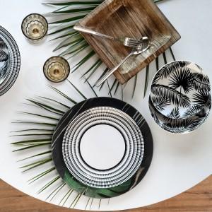 Tognana - Oasis 18 részes étkészlet+tálaló+tányéralátétek