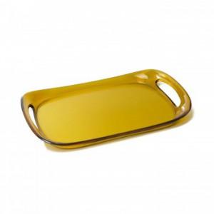 Casa Bugatti - Glamour tálca sárga 46 x 30cm