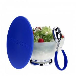 Bugatti - Primavera salátástál + Molla Kiss salátaszedő kanál kék