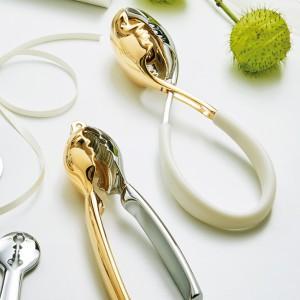 Casa Bugatti - Kiss salátaszedő 24 karátos arany/króm fehér