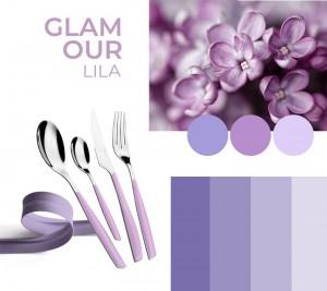 Casa Bugatti - Glamour evőeszközkészlet 24részes lila