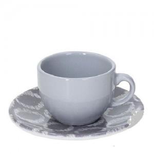 Tognana - Sfera Ikat 2db kávéscsésze + alátét szürke