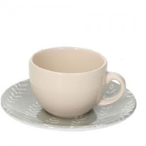 Tognana - Sfera Ikat 2db kávéscsésze + alátét bézs